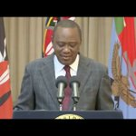 PRESIDENT UHURU ADDRESSING THE NATION