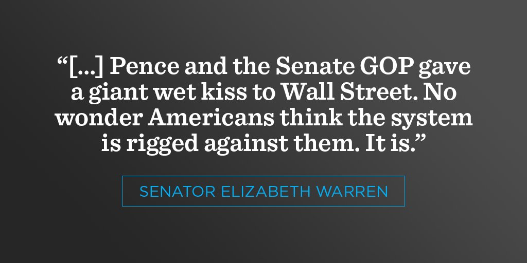 With every vote, it's obvious that the GOP only cares about Wall Street. https://t.co/wQ2vqU1BLi https://t.co/07TsXsQQOA