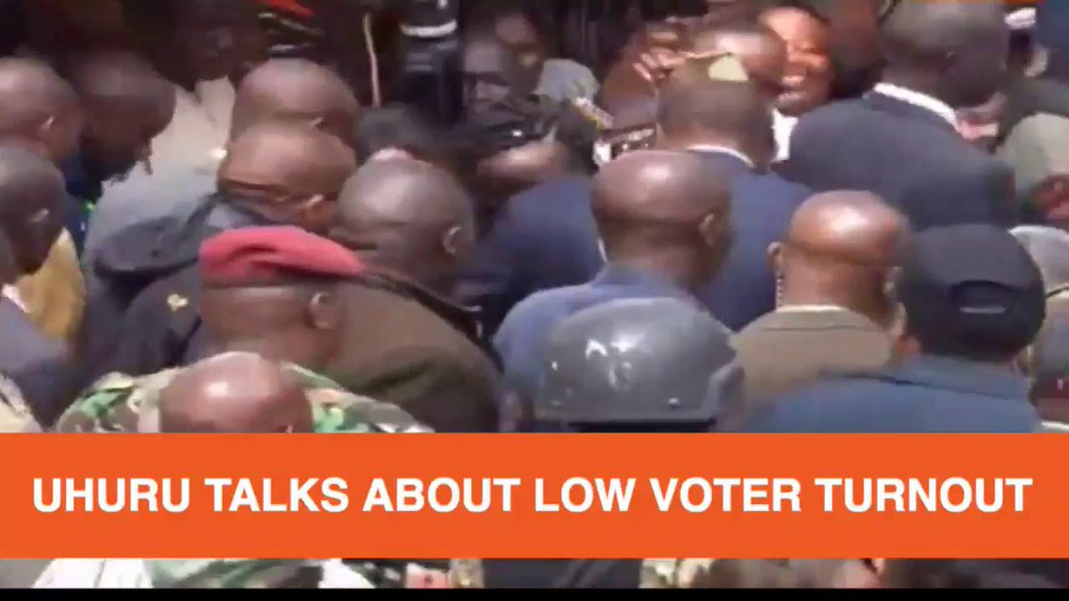 UHURU SAYS HE IS CONFIDENT HE WILL DEFEAT RAILA IN TODAY'S ELECTIONS