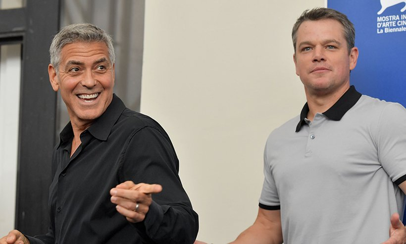 Matt Damon has given a funny update about George Clooney's twins...