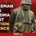Policeman comes to grandma's aid amidst heavy clashes in Kibera, Nairobi
