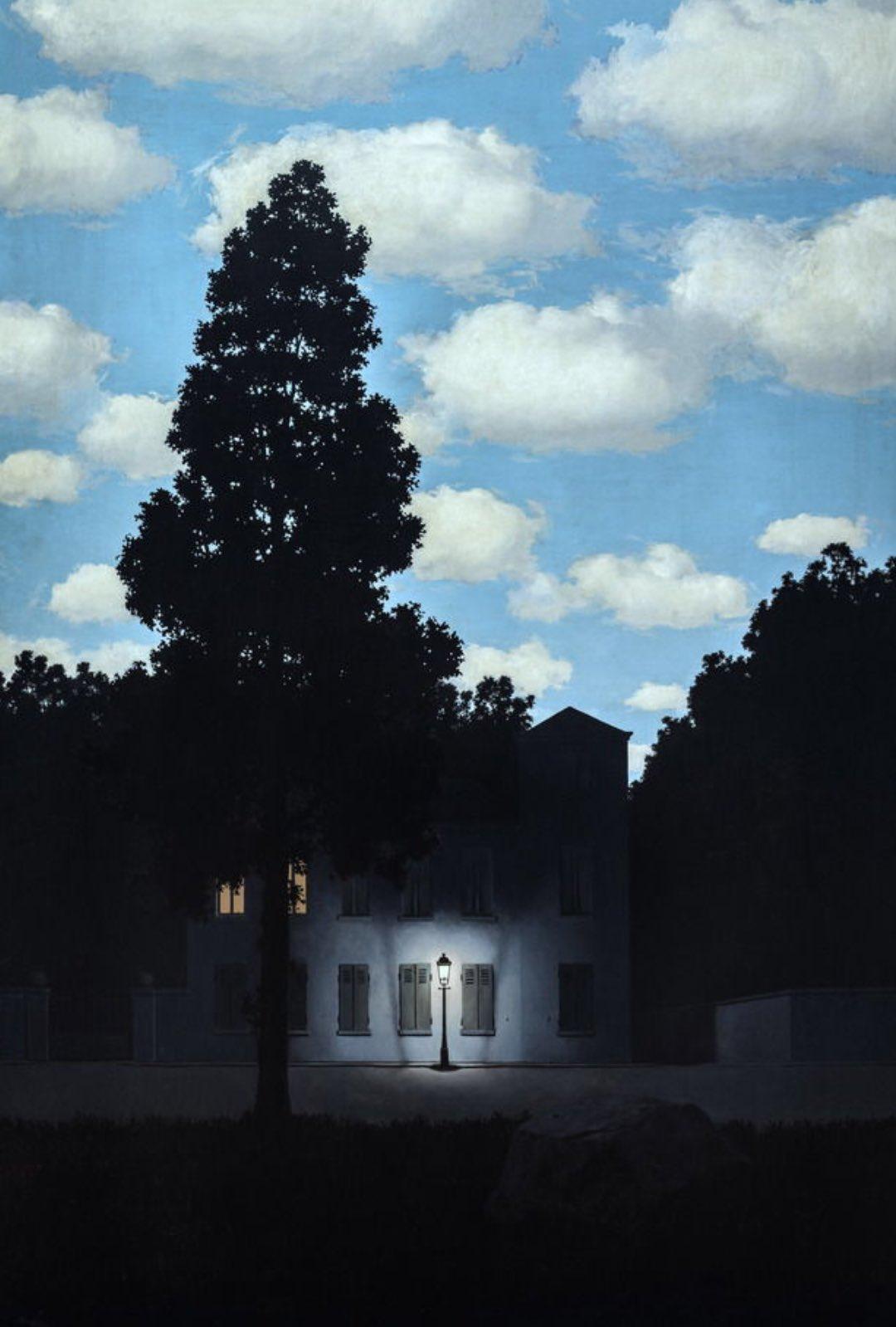 """➖MAGRITTE➖ """"Empire of Light"""", 1953 https://t.co/pSgfi4uR8p"""