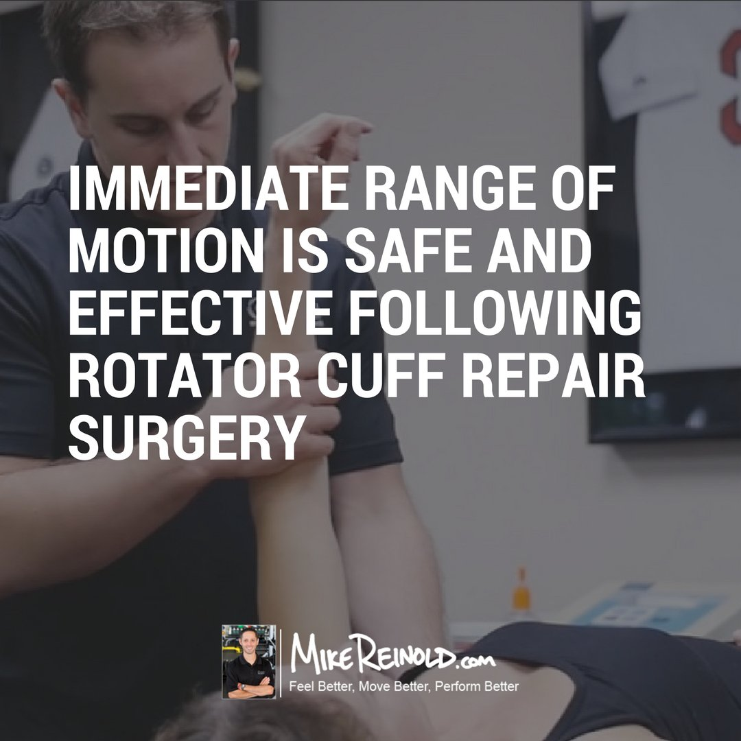 test Twitter Media - RT @mikereinold: Immediate ROM is safe and effective following rotator cuff repair surgery https://t.co/hORfU95pdW https://t.co/1XByN7fUF3