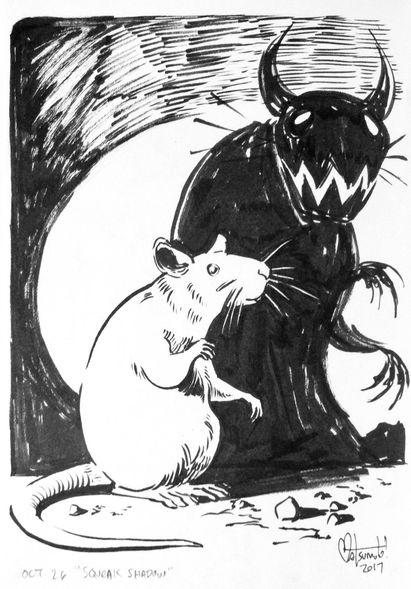 """#Inktober day 26: """"squeak shadow"""" https://t.co/NpohCmn2Q6"""