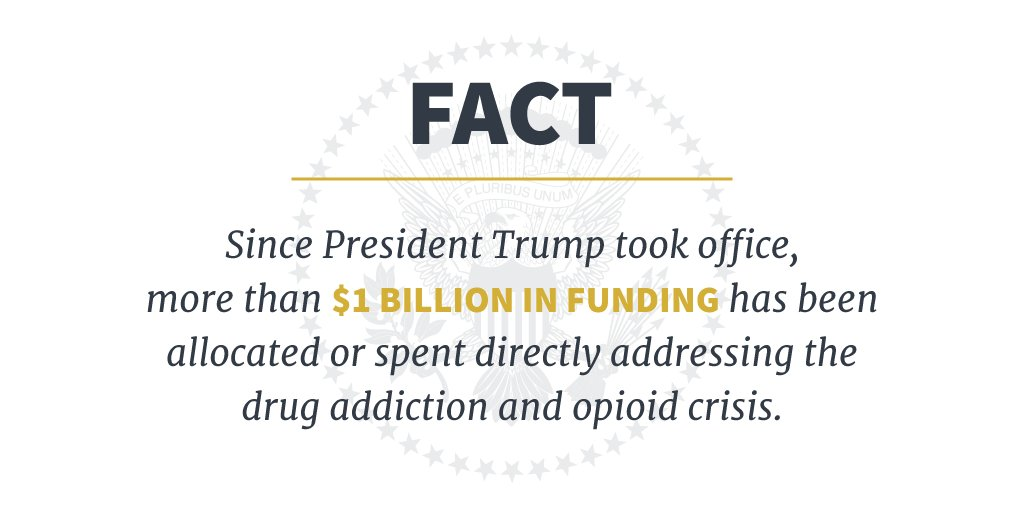 President Trump is taking action on drug addiction and the opioid crisis. https://t.co/hSkSChVwAg