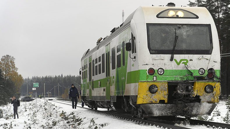 Train & military vehicle crashes in Finland killing 4