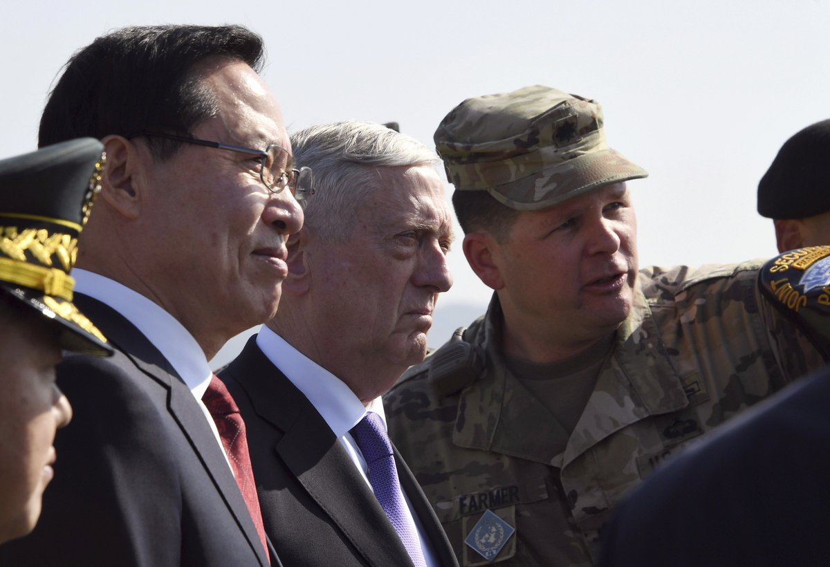 "Defense secretary says North Korea is threatening ""catastrophe"""