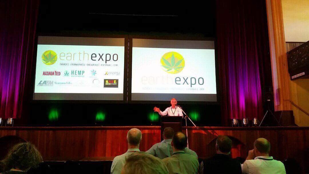 Talking Hemp at the #earthexpo in #Launceston. A...