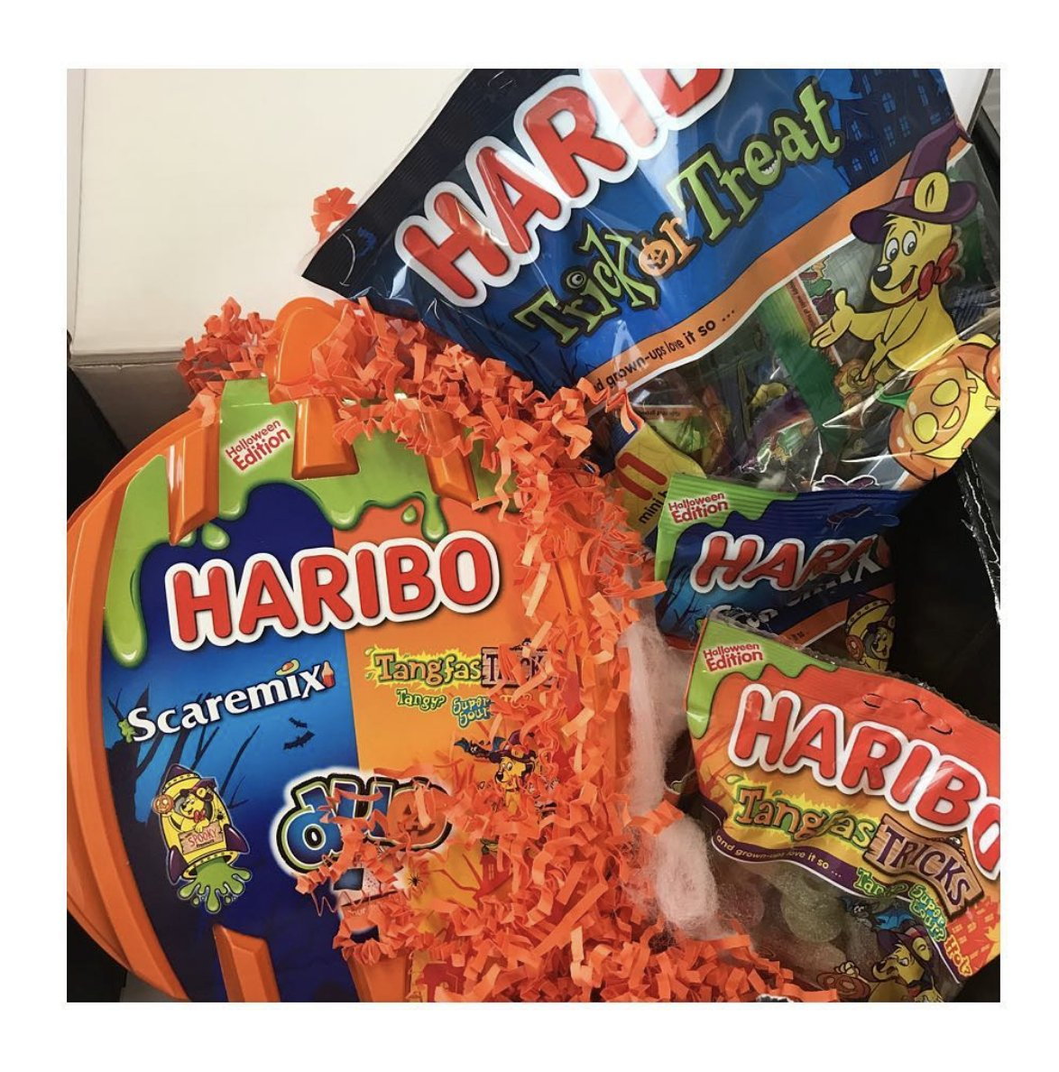Monday blues? A truck-load of Halloween themed @OfficialHARIBO goodies will help...