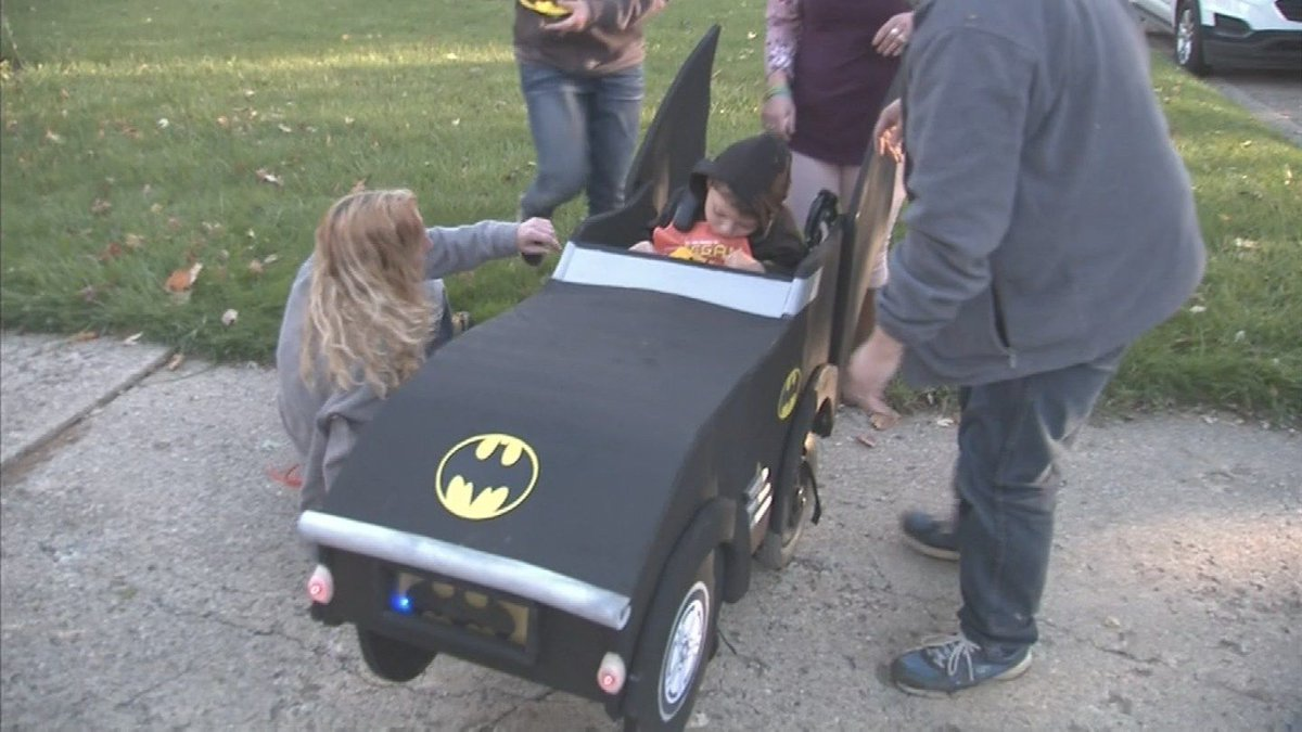 Home Depot creates Batmobile for kid in wheelchair for Halloween - | WBTV Charlotte