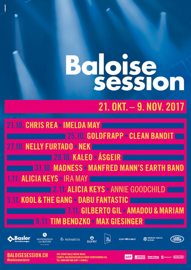 RT @NellyFurtadoCZ: Tonight: @NellyFurtado performing at the Baloise Session in Basel, Switzerland https://t.co/1gjppmMC4p