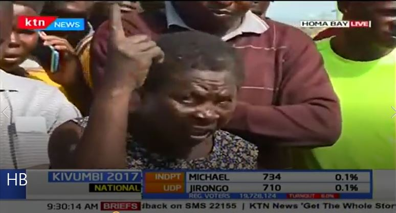 Homa Bay resident sets tongues wagging after reasons why she did not participate in poll (Video)