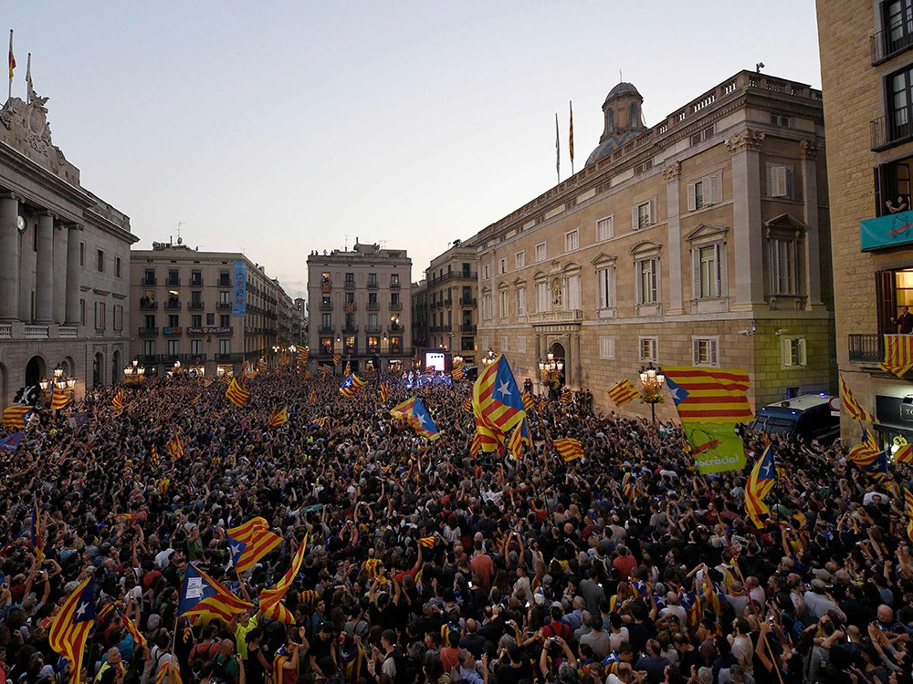 Spain authorizes government to takeover Catalonia moments after proclamation of