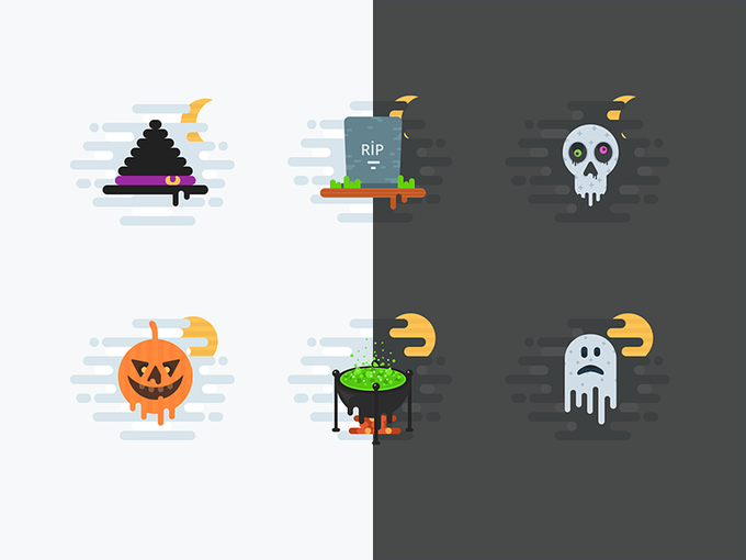 Halloween Icons   Icons by Rengised freebie