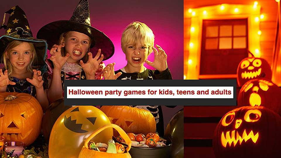 Here's some Hellish Halloween party games for kids, teens and adults