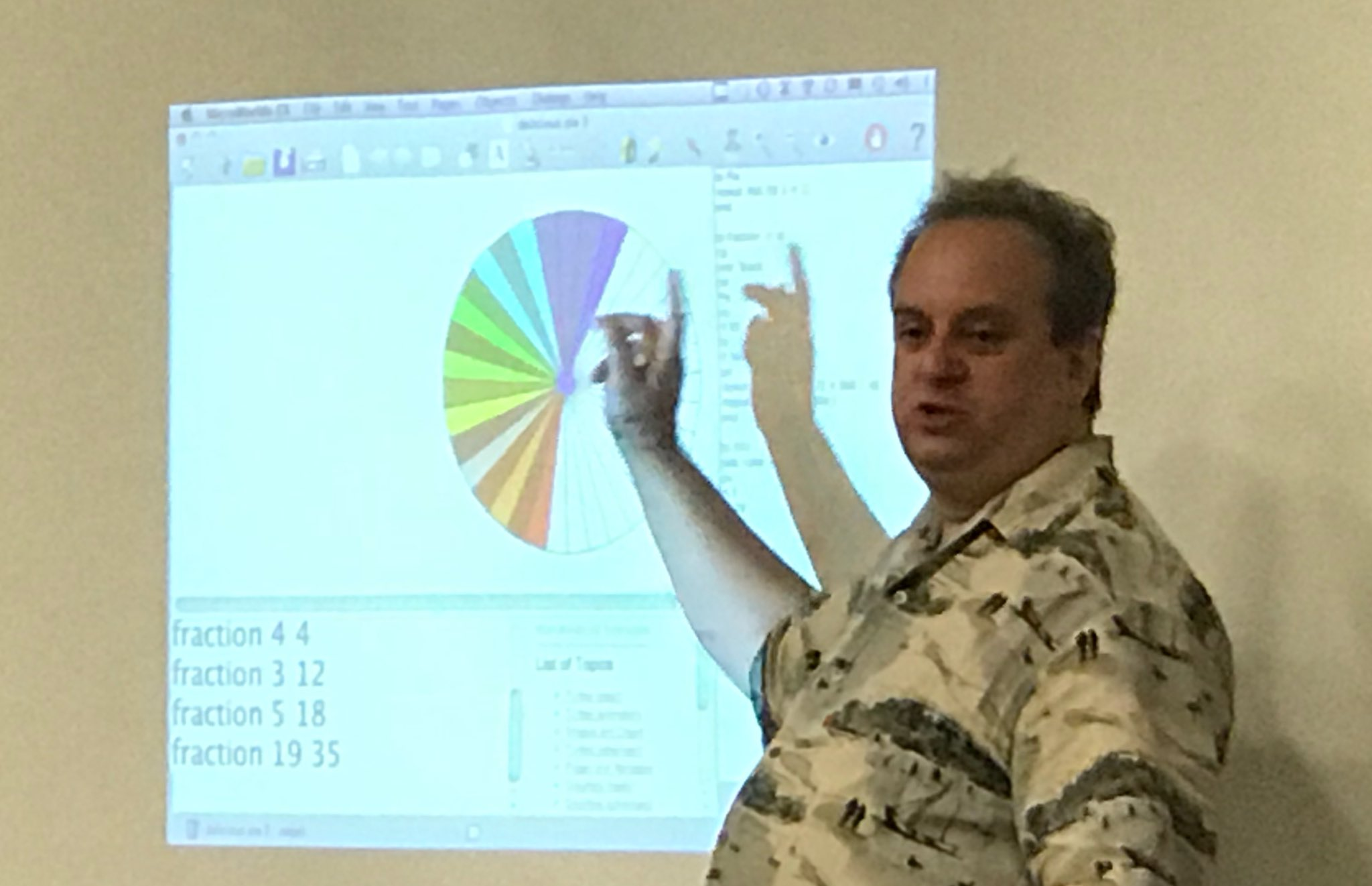 A better way to learn fractions: Students coded a program to draw a representation of any fraction in a circle @garystager at #SOTF2017 https://t.co/I27qJM7Tp6