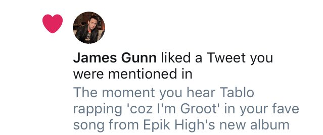 Thank you, director @JamesGunn for approving the fact that I indeed am Groot. #GuardiansOfTheGalaxy #EPIKHIGH https://t.co/fbfjfnFIjr