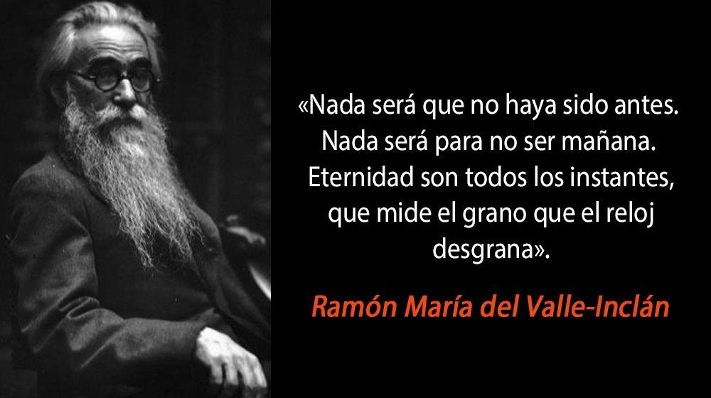 Ramón María del Valle-Inclán [28/10/1866 - 5/01/1936] novelista, poeta, autor dramático, cuentista, ensayista y periodista español. https://t.co/vPSRnHXf63