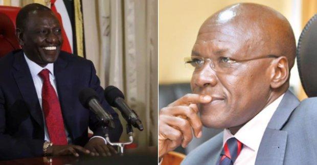 Ruto and former Kakamega senator face-off on social media over Uhuru's results