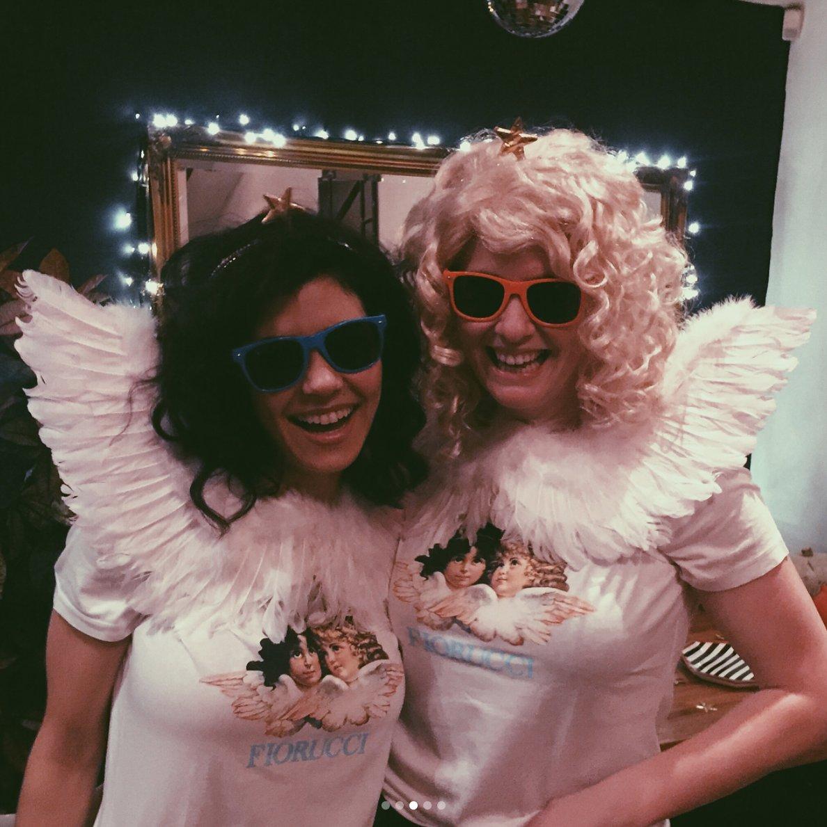 We went as Fiorucci angels for Halloween! ��������⭐️�������� https://t.co/T8d2DfP2kJ