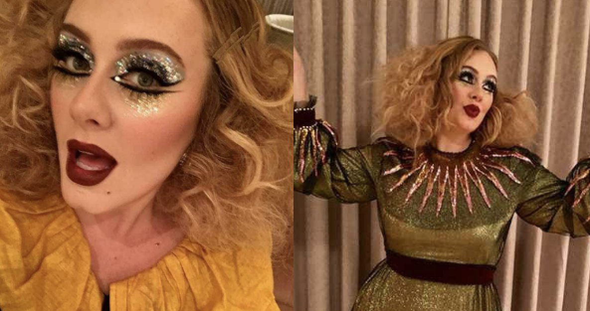 Adele didn't say exactly what she was for Halloween, but she looked stunning regardless: