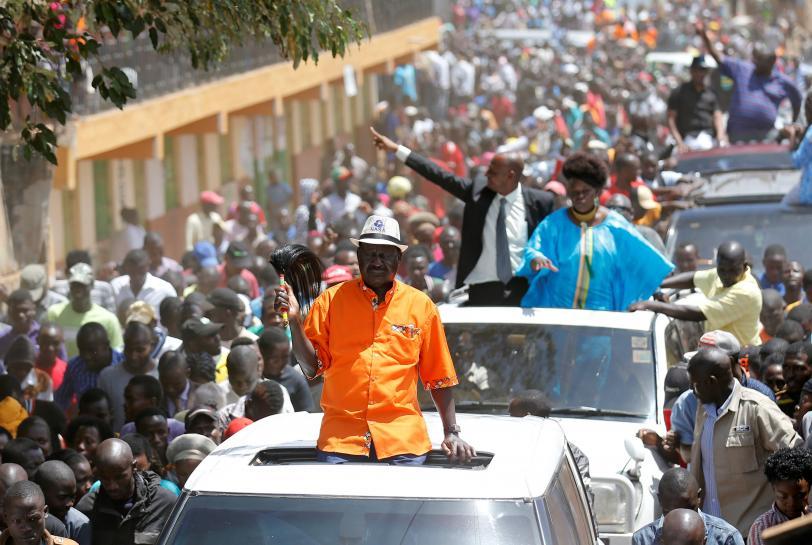 Kenya opposition leader calls for calm in slum hit by deadly violence
