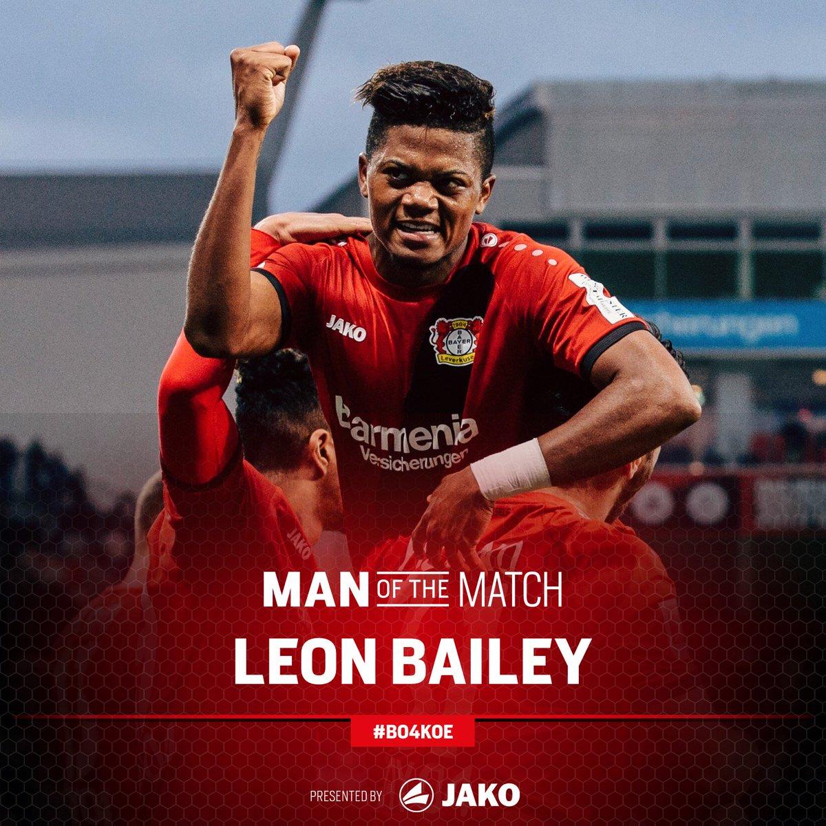 RT @bayer04fussball: .@leonbailey war euer Spieler des Derbys! 💪   #B04KOE https://t.co/TPbeAjGGba