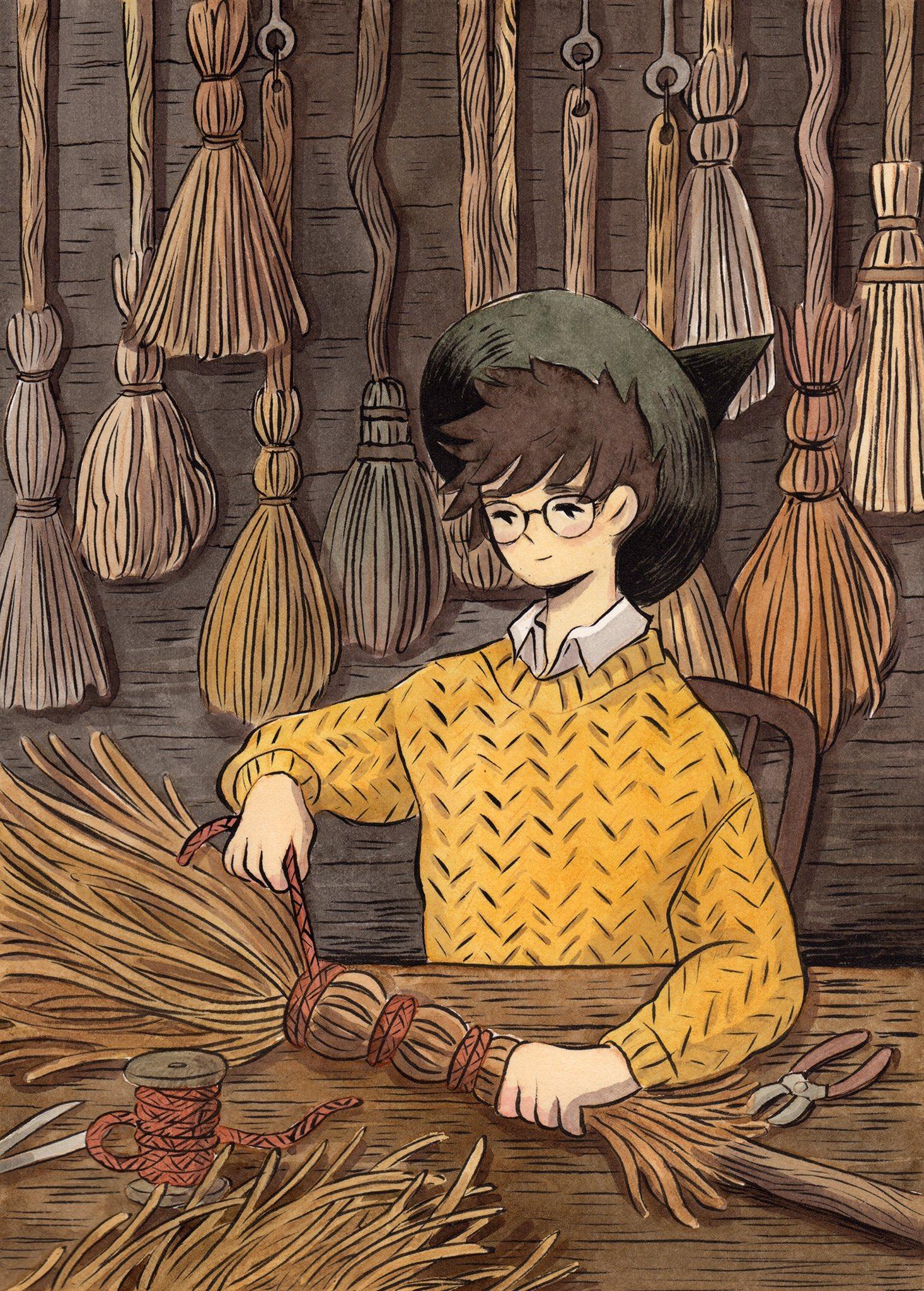 Inktober day 29, Broom Maker https://t.co/2yQgexGuz4