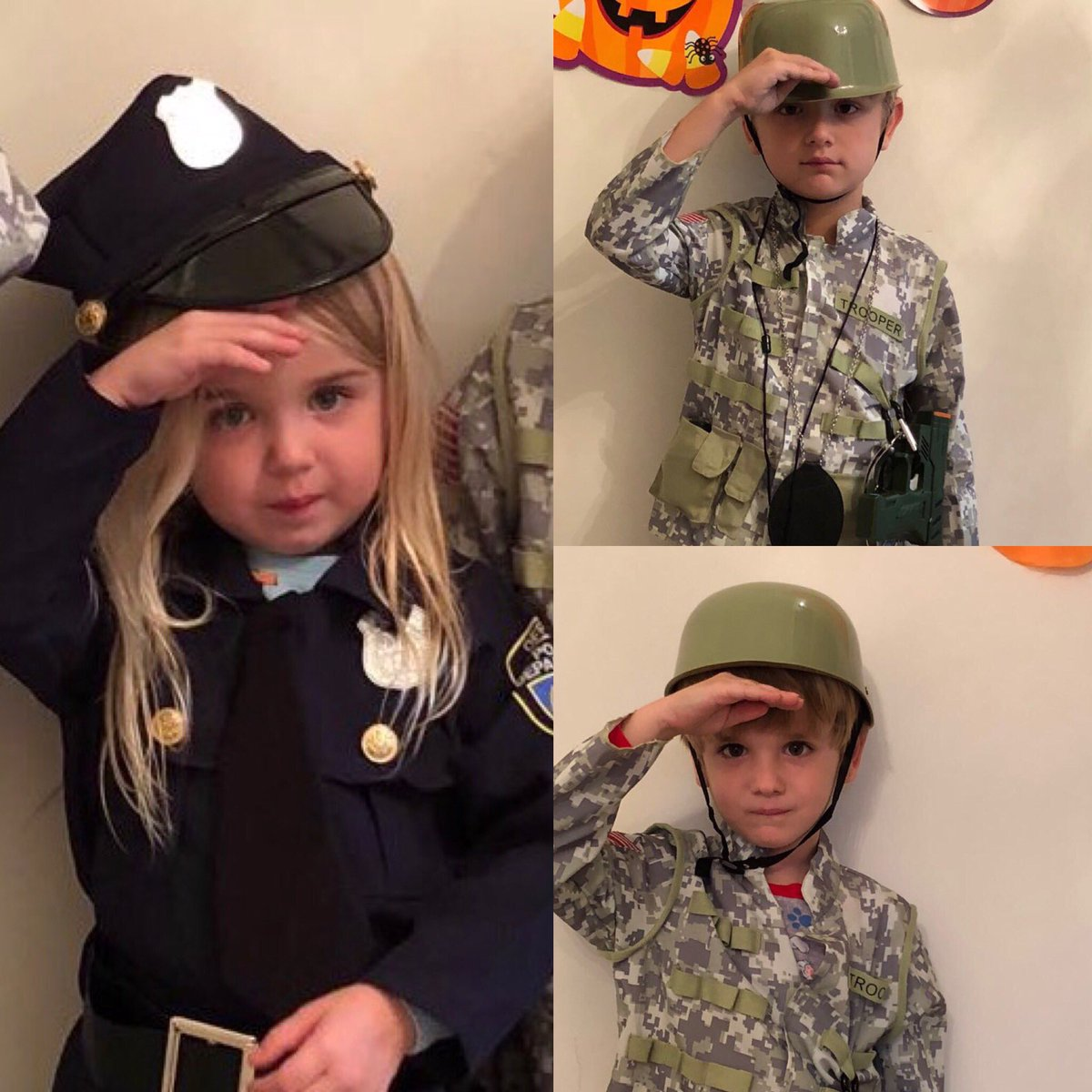 Pres. Trump's grandchildren show off military, law enforcement Halloween costumes