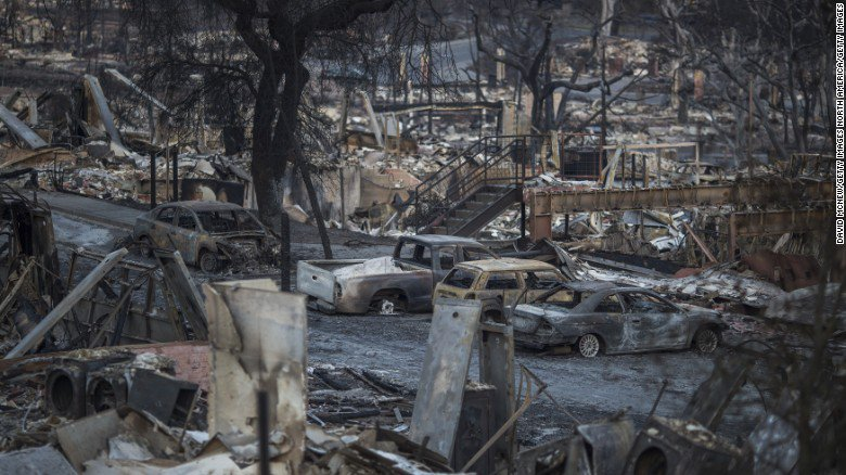 Toxic ash and debris from the California wildfires pose risks during cleanup