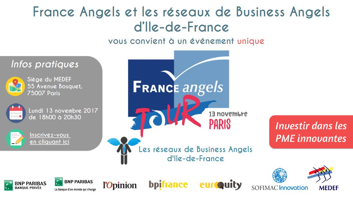 test Twitter Media - [#INVESTISSEURS] France Angels Tour @MEDEF, lundi 13 novembre 18h. Rencontrez #startup suivie par @BureauHorse ! https://t.co/I05yjiliwq https://t.co/htU1QMkcA0
