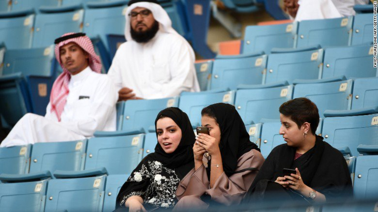 Saudi Arabia is starting to ease restrictions barring women spectators from sports stadiums