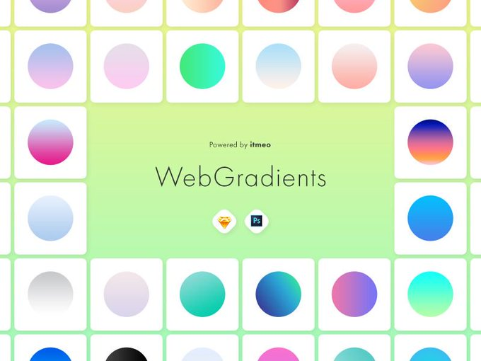 Ultimate Collection of Gradients  free freebie gradients collection ui sketch psd