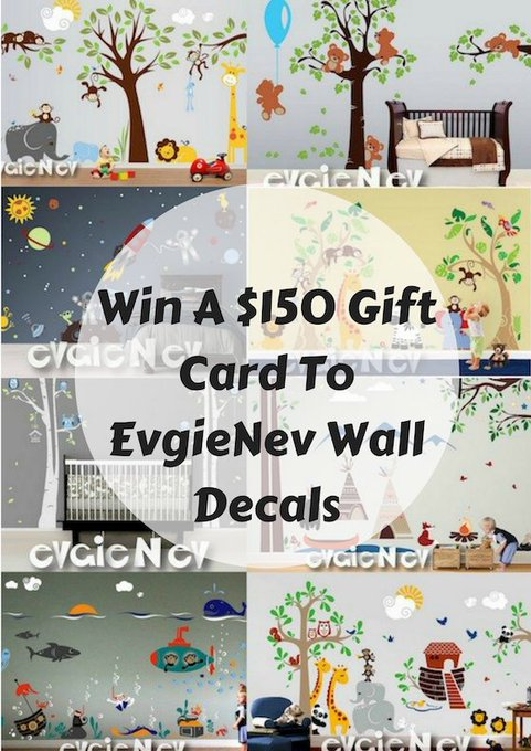 $150 Gift Card to EvgieNev Wall Decals