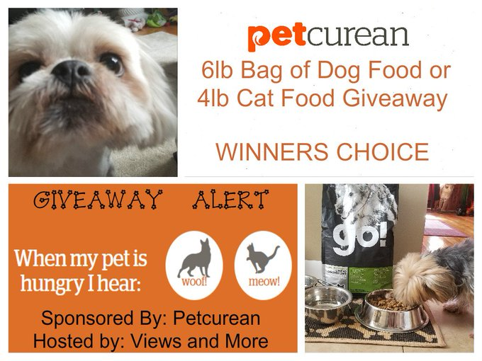 Petcurean Pet Food Giveaway
