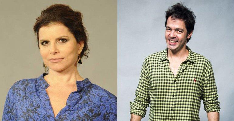 Bruno Mazzeo. Foto do site da Caras Brasil que mostra Debora Bloch mostra foto com os gêmeos de Bruno Mazzeo. Confira aqui