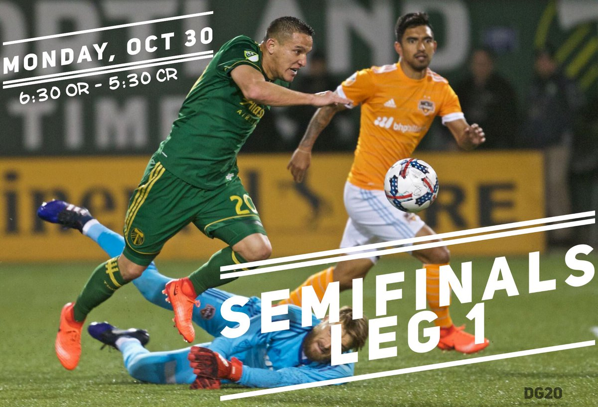 Today is the day ⚽️💪🏽 Go Timbers! #SemifinalsLeg1 #DG20  Portland: 6:30 pm Costa Rica: 5:30 pm https://t.co/Q9W3WA00M6