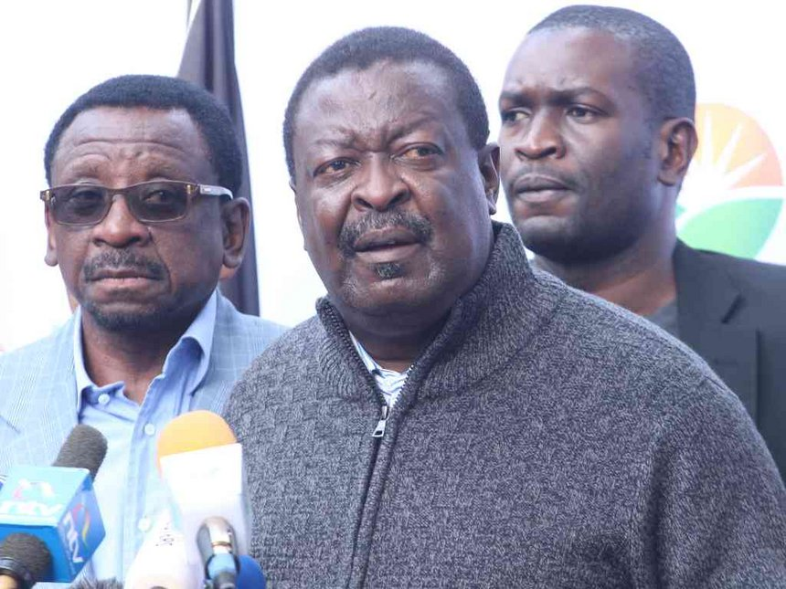 Don't be hoodwinked, the poll was a sham, Mudavadi tells the world