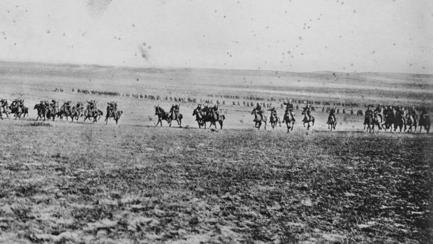 test Twitter Media - On This Day 31st Oct 1917 At Beersheba the 4th Light Horse Brigade's bold charge against Turkish positions. https://t.co/mECx3oGatk