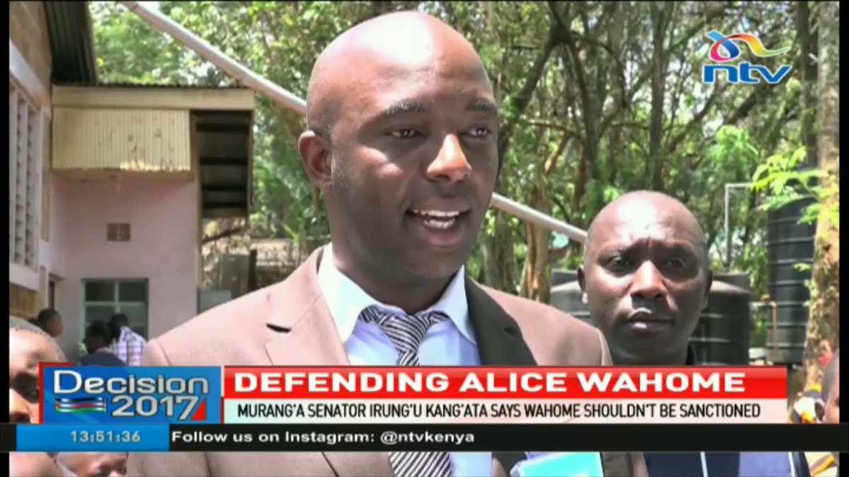 Murang'a senator defends Kandara MP Alice Wahome