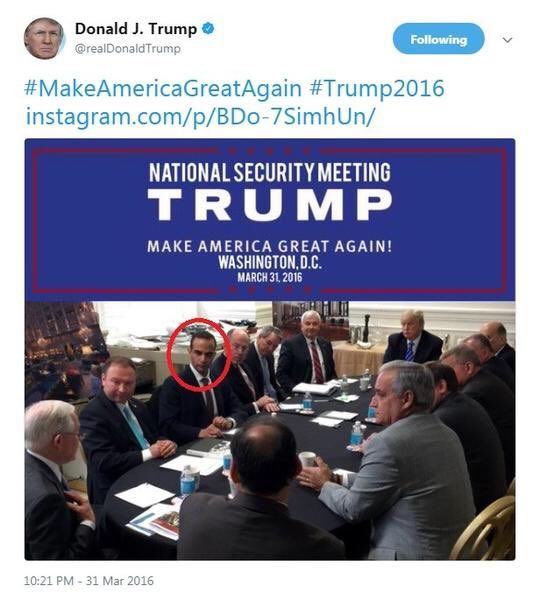 """That time a """"low level volunteer named George"""" sat between the next president & attorney general. #TrumpRussia https://t.co/L2i0YUoWBs"""