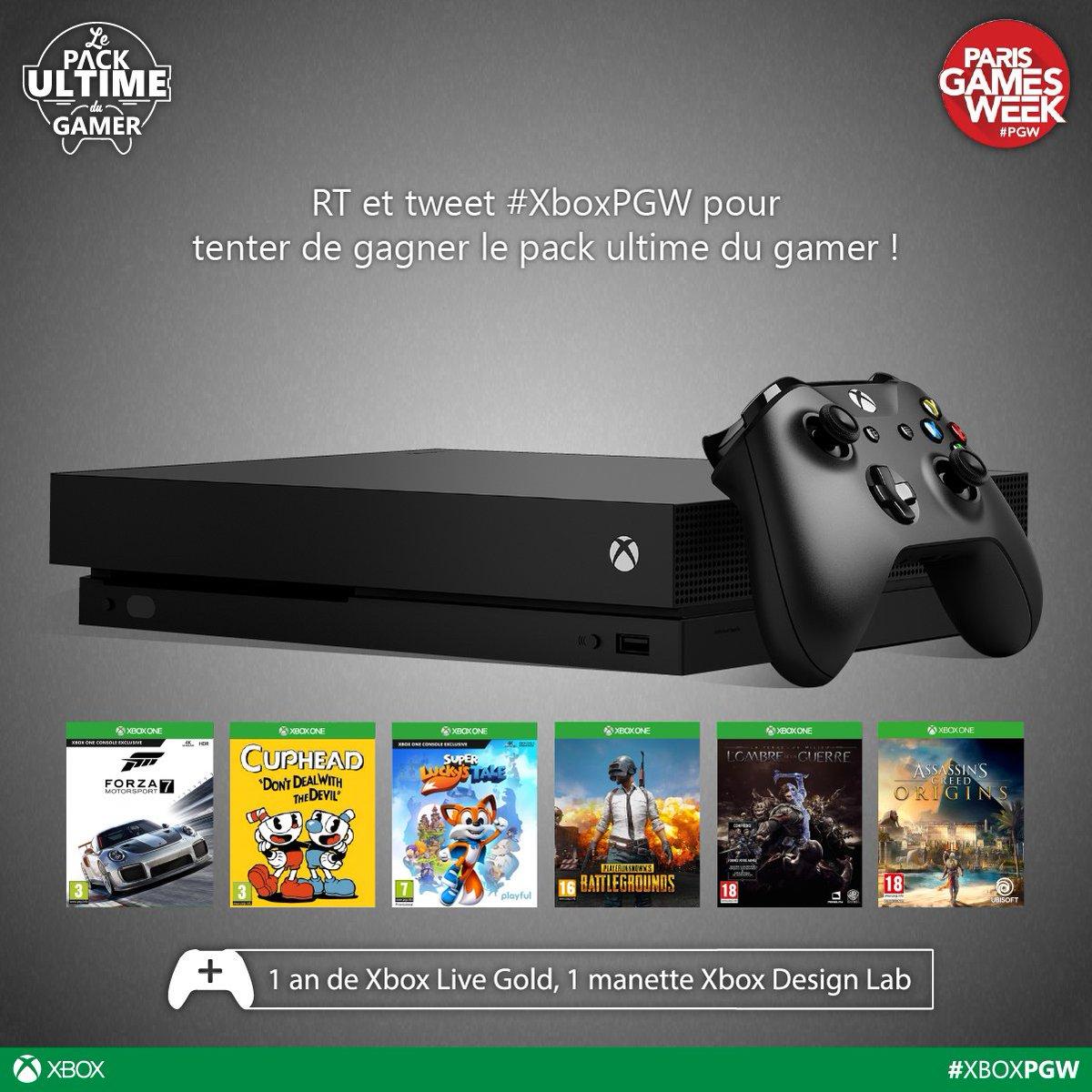 Nous voilà à la #PGW2017 ! RT et tweet #XboxPGW pour tenter de gagner le pack ultime du gamer ;)