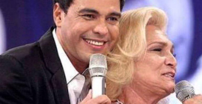 Hebe Camargo. Foto do site da Caras Brasil que mostra Zezé Di Camargo homenageia Hebe Camargo: Bateu uma saudade