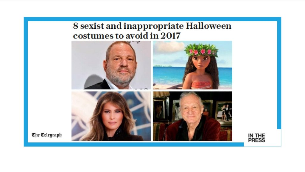 IN THE PAPERS - What NOT to wear this Halloween