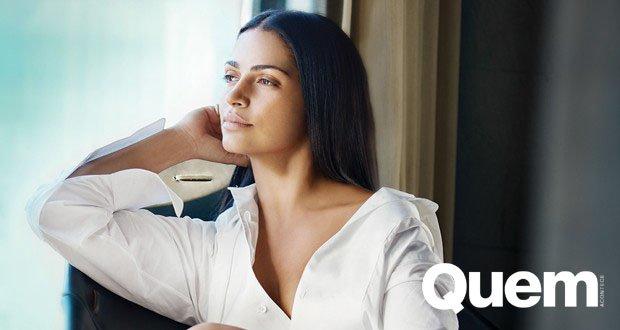 Camila Alves. Foto do site da Quem Acontece que mostra Camila Alves relembra trabalho como faxineira nos EUA e fala de cidadania americana