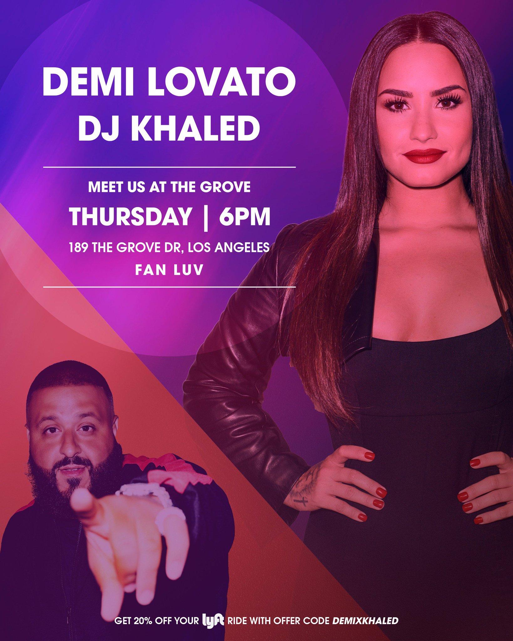 LA!! See you at @thegrovela on Thursday? ����������@djkhaled https://t.co/c7ssoFK9L9