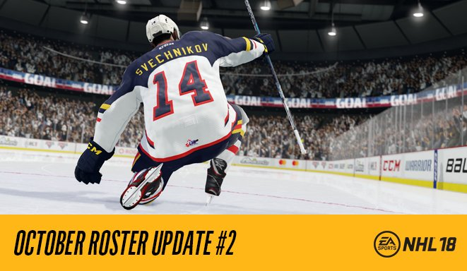 The latest #NHL18 roster update is now available for download.  https://t.co/Oq3ayUCvw9 https://t.co/jqnqsdAyTV