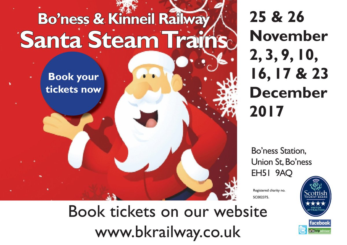 test Twitter Media - RT @bonessrailway: Still time to book your tickets for our #SantaSteamTrains 🎅 Be quick! #HoHoHo ^JS https://t.co/ZYW3d8s76t