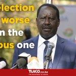 Raila Odinga speech after Uhuru was declared president