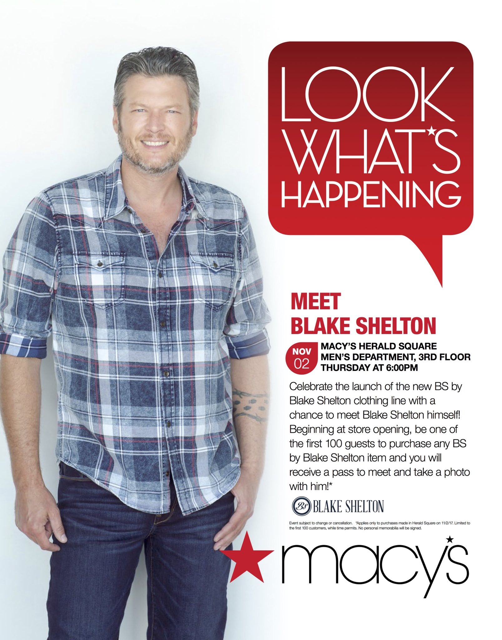 See y'all Thursday at @Macys!! https://t.co/fU1WayER67